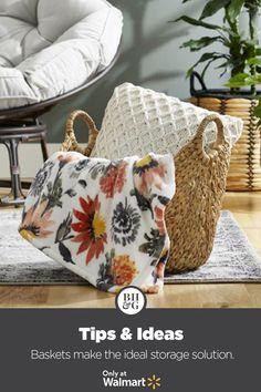 Find favorites for the fall from Better Homes & Gardens at Walmart. #fall #fallideas #falldecor #throwblanket #throwpillow #basket #homedecor #fallhomedecorideas #fallstyling