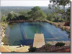 Beautiful, clean, blue water can be achieved with Organic Pond Dyes and Cleaners! www.organicpond.com