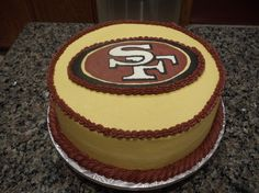 49ers cake for super bowl party