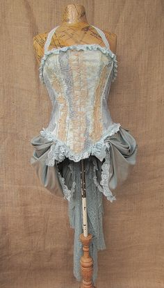 Alice bodice with bustle by NaturallyBohemian on Etsy
