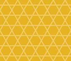 日本伝統文様 籠目 黄色