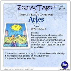 Daily tarot card for Aries from ZodiacTarot! Do you read your own tarot cards?  Read them for free online right now! Visit iFate.com today!
