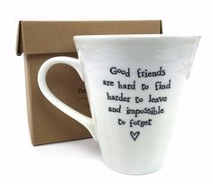 East of India Porcelain Friends Mug