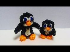 ▶ Rainbow Loom Charms: BABY PENGUIN: How to Make it Tutorial - YouTube