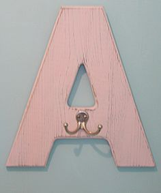 Monogram Wall Hook.  Spell out BATH