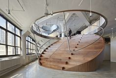 great space, like the wood stair case. Wieden+Kennedy NY / WORKac