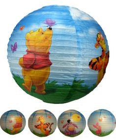 candelabru cu abajur din hartie in diferite variante de personaje Winnie the Pooh BOHEM 4881 marca RabaLux