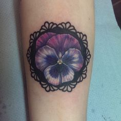 pansy flower and butterfly tattoo - Google Search