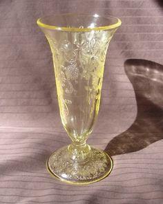 YELLOW DEPRESSION GLASS  CAMEO BALLERINA  | depression glass_hq Price Guide