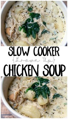Slow Cooker Grown Up Chicken Soup Recipe