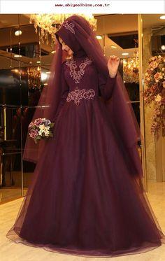 Pınar Şems Sare Abiye Mor - Pınar Şems,  #abiye Muslim Wedding Dresses, Muslim Brides, Wedding Hijab, Muslim Girls, Wedding Gowns, Muslim Fashion, Hijab Fashion, Girls Dresses, Prom Dresses