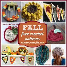 Fall and Autumn Free Crochet Pattern Roundup