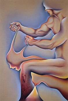 Judy Chicago, Crippled by the Need to Control / Blind Individuality, Sprayed acrylic and oil on canvas, x Judy Chicago, Art Articles, Feminist Art, Collaborative Art, Native American Art, Female Art, New Art, Oil On Canvas, Cool Art