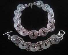 "Kenneth J. Lane. Frosted lucite necklace and bracelet set. Necklace measures 16"" in length and bracelet is 7"" in length. NEW OLD STOCK. Never worn. Special buy at  $125 for the set. Free shipping in the US. Questions? PM me via FB. PayPal Only."