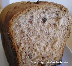 BRIOCHE CON PASAS Y NUECES EN PANIFICADORA - Receta original de myTaste Receta Pan Brioche, Dried Fruit, Cooking, Ideas Para, Raisin Bread, Milk And Honey, Bread Machine Bread, Sweet Wine, Sweet Recipes
