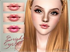 Bright Crystal Lip Gloss by Pralinesims - Sims 3 Downloads CC Caboodle