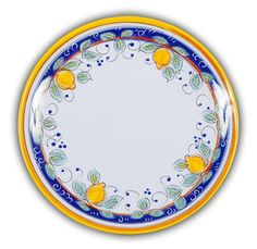 Italian Heavy Duty Melamine Lemons Design Dinner Plate
