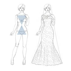 Are you a hourglass shape?  Click to see your perfect wedding dress styles!  #youandyourwedding