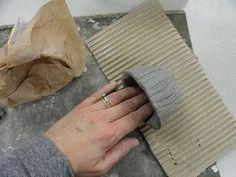 clay cupcake: texture