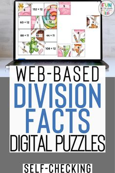 These digital puzzles are a great way to practice division facts and improve fluency! These no prep, self checking digital puzzles work on any device with internet. Includes 36 division problems to be solved and great to use in the classroom or distance learning. Learning Resources, Teacher Resources, Math Fact Practice, Math Websites, Class Teacher, Math Strategies, Fun Math Games, Early Finishers, Free Math