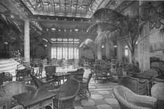 The Wintergarten/Palm-Court of the R.M.S. Berengaria (formerly the S.S. Imperator of H.A.P.A.G.) of the Cunard Line.