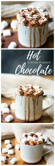 Epic stove top hot chocolate. Creamy, chocolatey and heart warming. Perfect for those cosy winter weekends!   wholesomepatisserie.com #hotchocolate #hotcocoa #veganhotchocolate #glutenfreehotchocolate