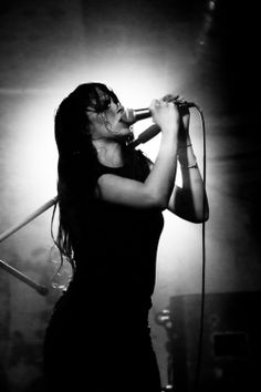 Teri Gender Bender - vocalist/guitarist of Le Butcherettes a Mexican garage punk band formed in 2007 in Guadalajara
