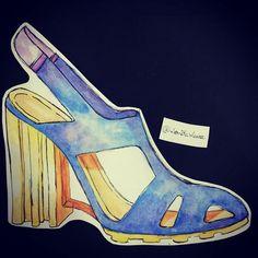 Shoes illustration by Monike Meurer. #drawing #fashionIllustrator #illustration #shoeillustration #shoes #art