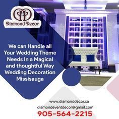 The diamond decor is top wedding decor in Mississauga, GTA, Canada. I and my team make your complete wedding memorable from start to end. We never compromise with decoration. Call us 905-564-2215. Perfect Wedding, Our Wedding, Wedding Venues, Dream Wedding, Diamond Decorations, Wedding Decorations, We Are A Team, Amazing Weddings