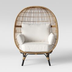 The Southport Patio Egg Chair from Opalhouse™ is a fun and unique addition to any outdoor living space. Large and visually interesting enough to stand on its own, it can also still fit into a larger arrangement with ease. patio design ideas. home decor ideas