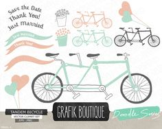 Bicycle mint hand drawn clip art