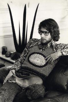 Portrait d'Yves Saint Laurent - Tirage argentique - Circa 1970.