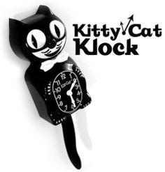 Kitty-Cat Klock Black Kit Kat Clock Vintage Eyes & Tail w/ Battery | eBay