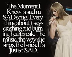 I love this song, but it is so sad!  The first time I heard it i started sobbing! -akilinski