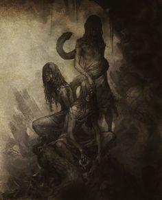 Castlevania Gorgon Sisters - Euryale, Stheno and Medusa