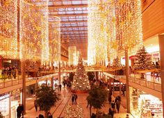 Lovely Christmas decorations at a mall in Berlin.