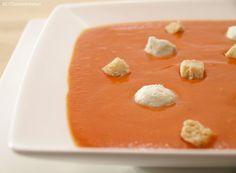 Crema fría de pimientos con queso - MisThermorecetas.com