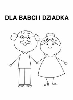senior kolorowania easy drawings christmas babci dzień dziadka prezenty dla doodle laurka grandparents canti scatter cushions childhood education designs rysunki