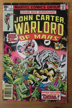 - Marvel Comics Group Present - Action Packed 1st Issue! - Character Based by Edgar Rice Burroughs - Bronze Age: June 1977 - Cover Artists: Gil Kane / Dave Cockrum - Artist: Gil Kane - Inker: Dave Coc
