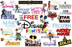 Make your own party printables including invitations with these free Disney fonts.Com for tons of free kids printables. Party Labels, Party Invitations Kids, Party Printables, Little Mermaid Font, Pirate Font, Mickey Font, Star Wars Font, Frozen Font, Mickey Mouse Birthday