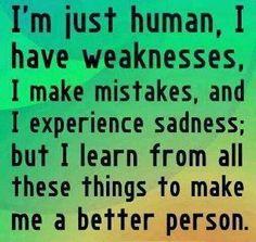Im just human