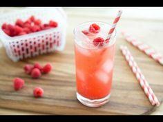 Homemade Raspberry Vanilla Soda: 4 Refreshing Summer Drinks: Homemade Raspberry Vanilla Soda., Strawberry Limeade, Triple Melon Sorbet Floats, Cantaloupe agua fresca