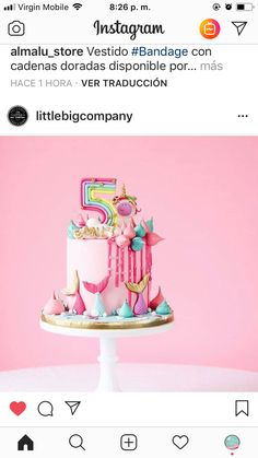 Virgin Mobile, Unicorn Cakes, Birthday Cakes, Desserts, Kids, Cake, Gold Chains, Tailgate Desserts, Young Children