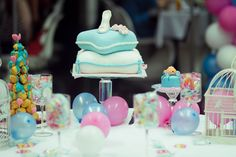 """The message of this party, was """"If you keep on believing, the dreams that you wish will come true. Cinderella Slipper, Cinderella Party, Pillow Cakes, Heart Melting, Daughter Birthday, Baking, Parties, Desserts, Blog"""