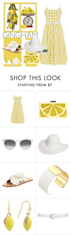 """ Lemon Squeeze "" by kateo ❤ liked on Polyvore featuring Alice + Olivia, TOMS, Dorothy Perkins, See by Chloé, Kate Spade, Liz Claiborne, M&Co, gingham and 6485"