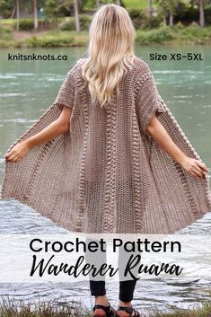 Simple crochet pattern made from 2 identical rectangles! The zig zag puff stitch adds a fun design element to this classically shaped garment. Knitting ProjectsCrochet For BeginnersCrochet Hair StylesCrochet Amigurumi Crochet Coat, Crochet Cardigan Pattern, Crochet Jacket, Easy Crochet Patterns, Crochet Scarves, Crochet Shawl, Crochet Clothes, Free Crochet, Simple Crochet