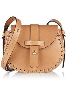 Michael Kors Claire whipstitched leather shoulder bag | NET-A-PORTER
