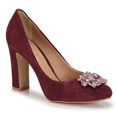 Sapato Scarpin Feminino Cesaretti - Roxo - Passarela.com