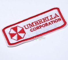 Umbrella Corporation Resident Evil Badge Iron On Embroidery Patc | MTcoffinz - Needlecraft on ArtFire