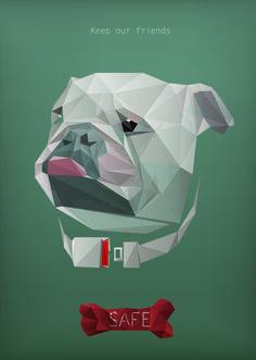 提醒遛狗時攜帶項圈的重要性_海報設計